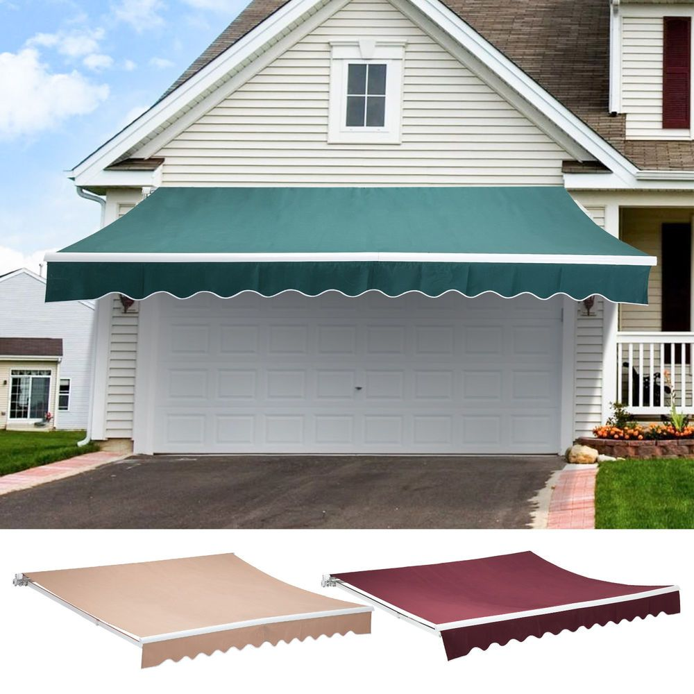 Patio Manual Retractable Deck Awning Sun Shade Shelter Canopy Outdoor Multi Size Pergola Ideas For Patio Pergola Canopy Outdoor