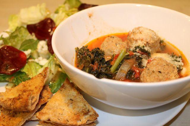 Light Italian Wedding Soup - 250 calories a serving.