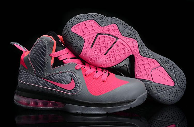 the best attitude e93cd 9af08 Womens Basketball shoes Lebron 9 Carbon Grey Cherry Pink Ke