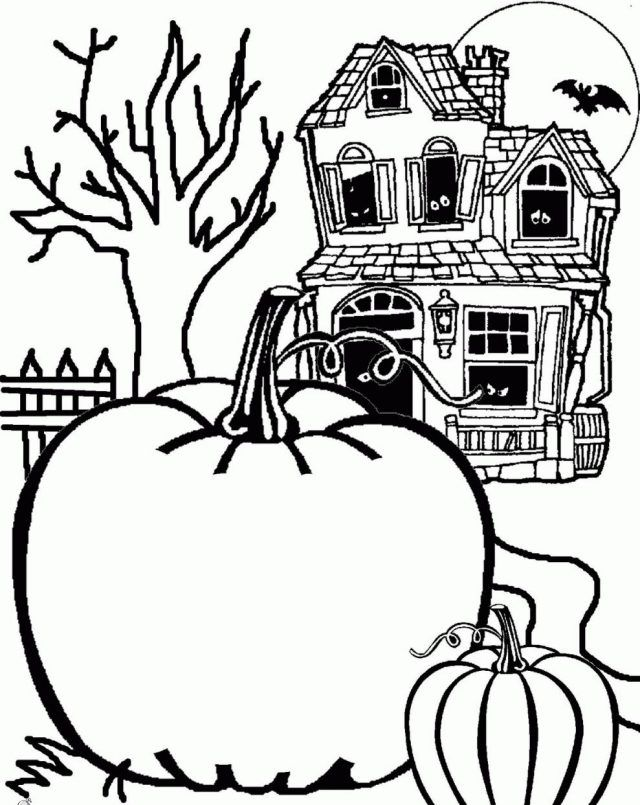 halloween bilder kürbisse spukhaus hintergrund | neue bilder ...