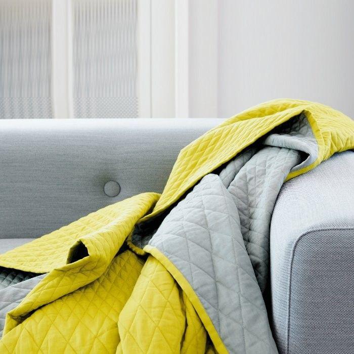 Hay Harlequin Decke Heu-design, Grau und Design - wohnzimmer farben gelb