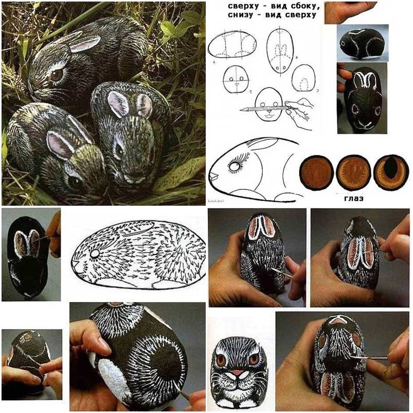 What a creative idea. Do you believe you can turn a stone to a rabbit? Yes, check out the picture tutorial below. My daughter borrowed the same idea. She picked a stone and drew a panda for her dad as a father's day gift. Pinterest Facebook Google+ reddit StumbleUpon Tumblr