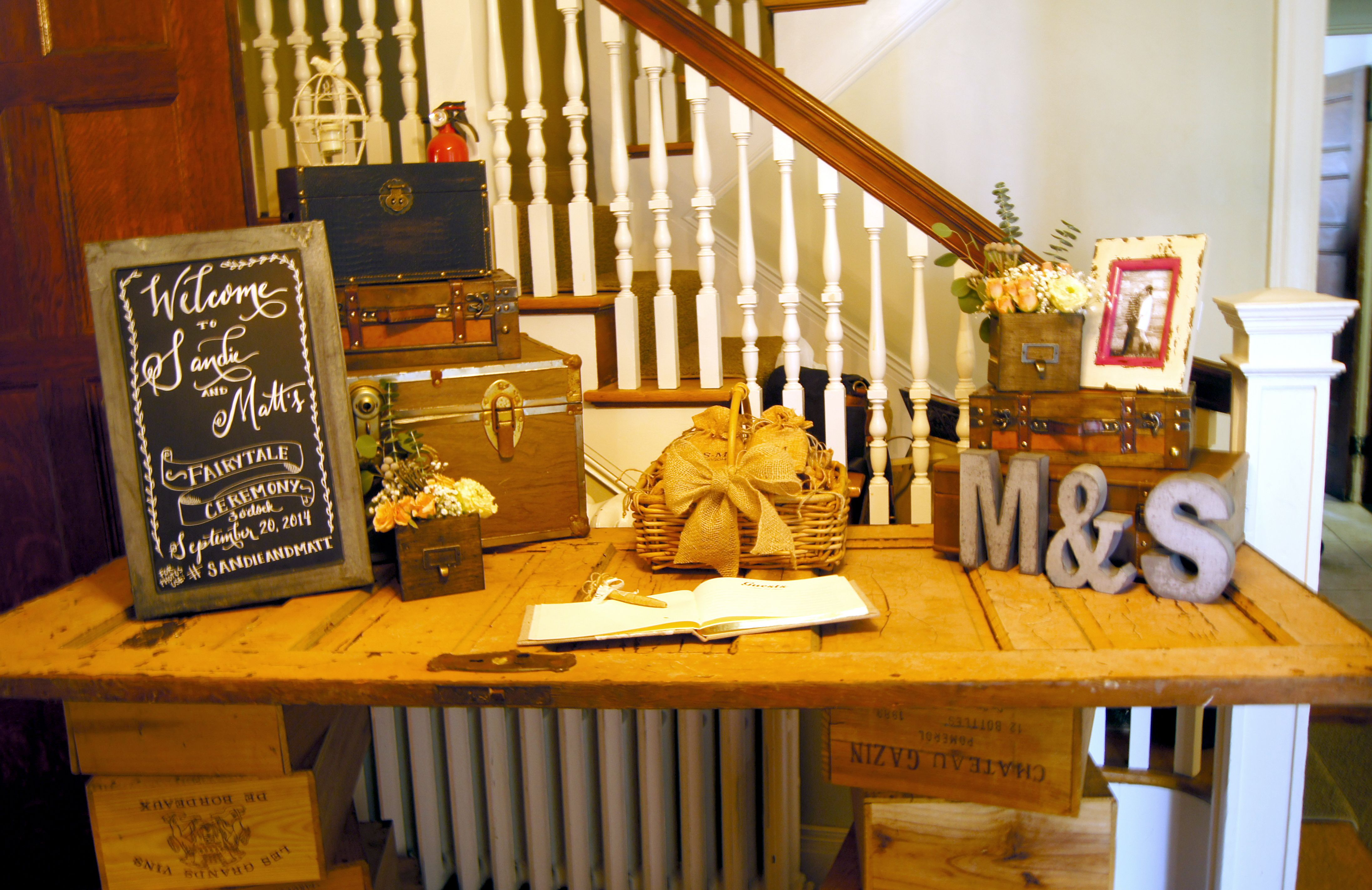 rustic vintage welcome table suitcases and chests vintage rustic