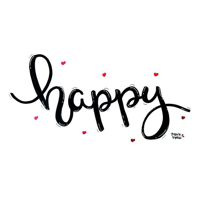 Happy ️. . . #zazouzarbicréations #letteringlove #