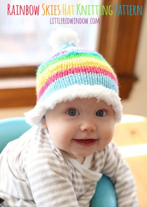 6c0f84d9954 Rainbow Skies Baby Hat Free Knitting Pattern