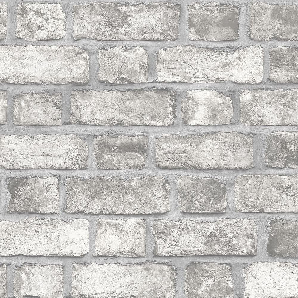 Brick wall Makeover Norwall Farmhouse Brick Wallpaper