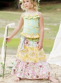 Finley Skirt in Rainbow by Mustard Pie | Little girl ...