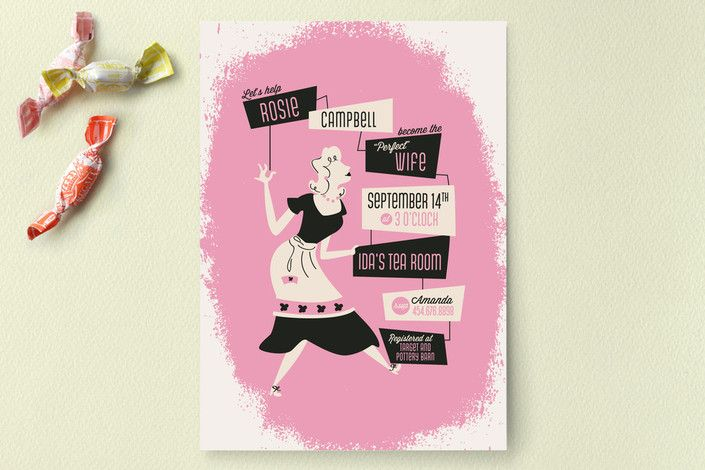 Susie Homemaker Bridal Shower Invitations by Pistols at minted.com