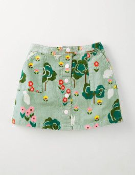 4d45afe68 Eton Blue Bunny Meadow Cord Popper Through Skirt Boden | baby and ...