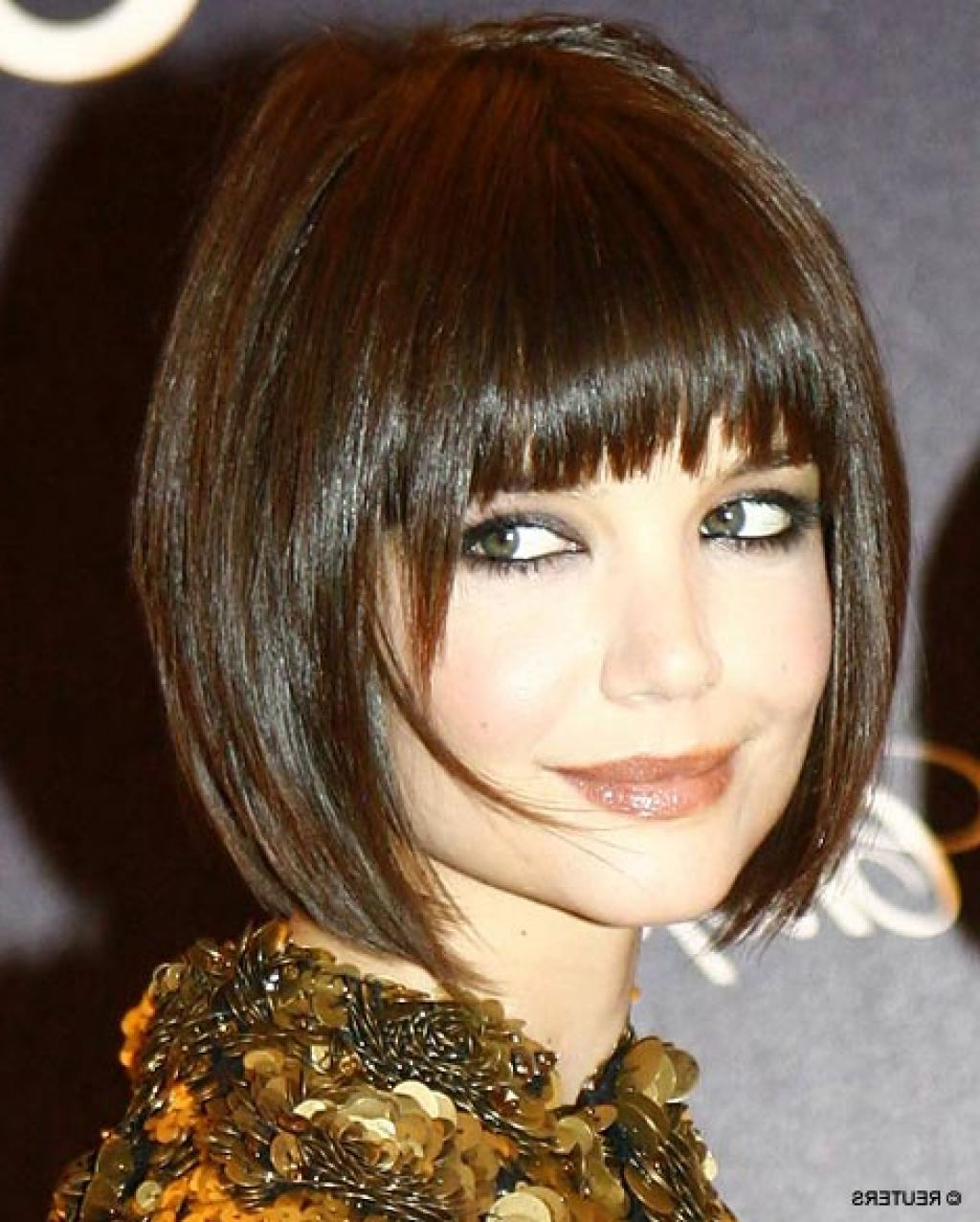 Short blunt bob hairstyle with bangs short hairstyles - Wavy Angled Bob Haircuts Short Angled Bob Haircut With Bangs 2015 Hairstyles Trend Ombre Photos
