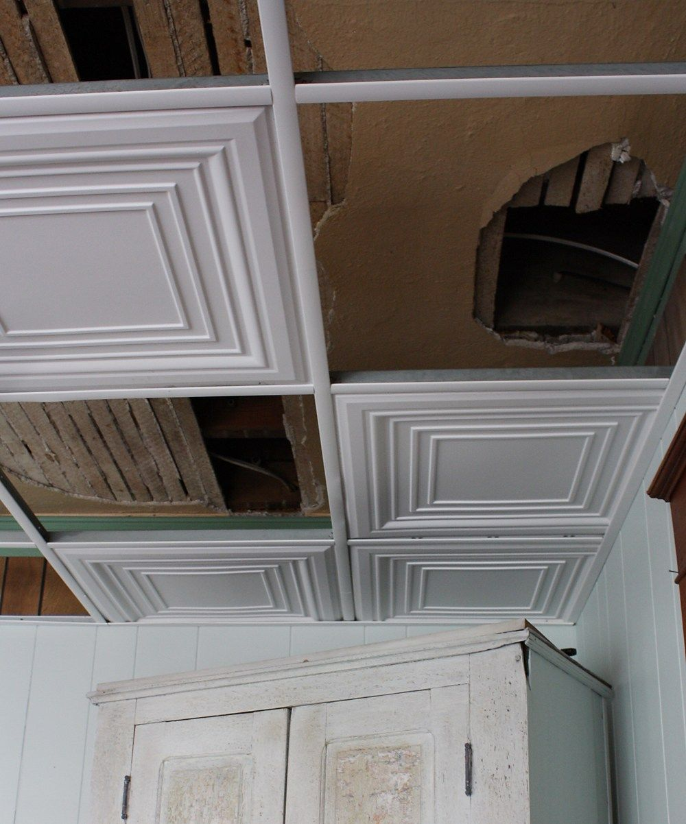 How To Easily Update An Ugly Drop Ceiling