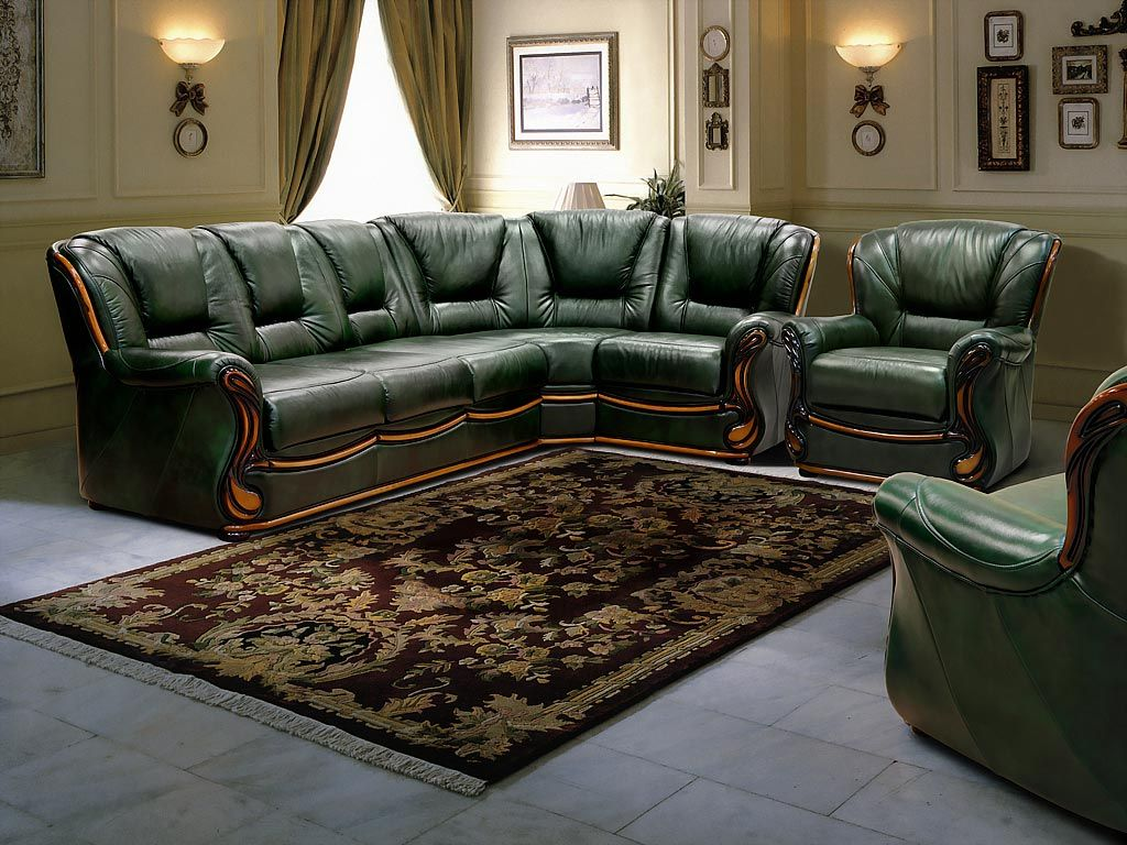 living room and hunter green |  green leather living room