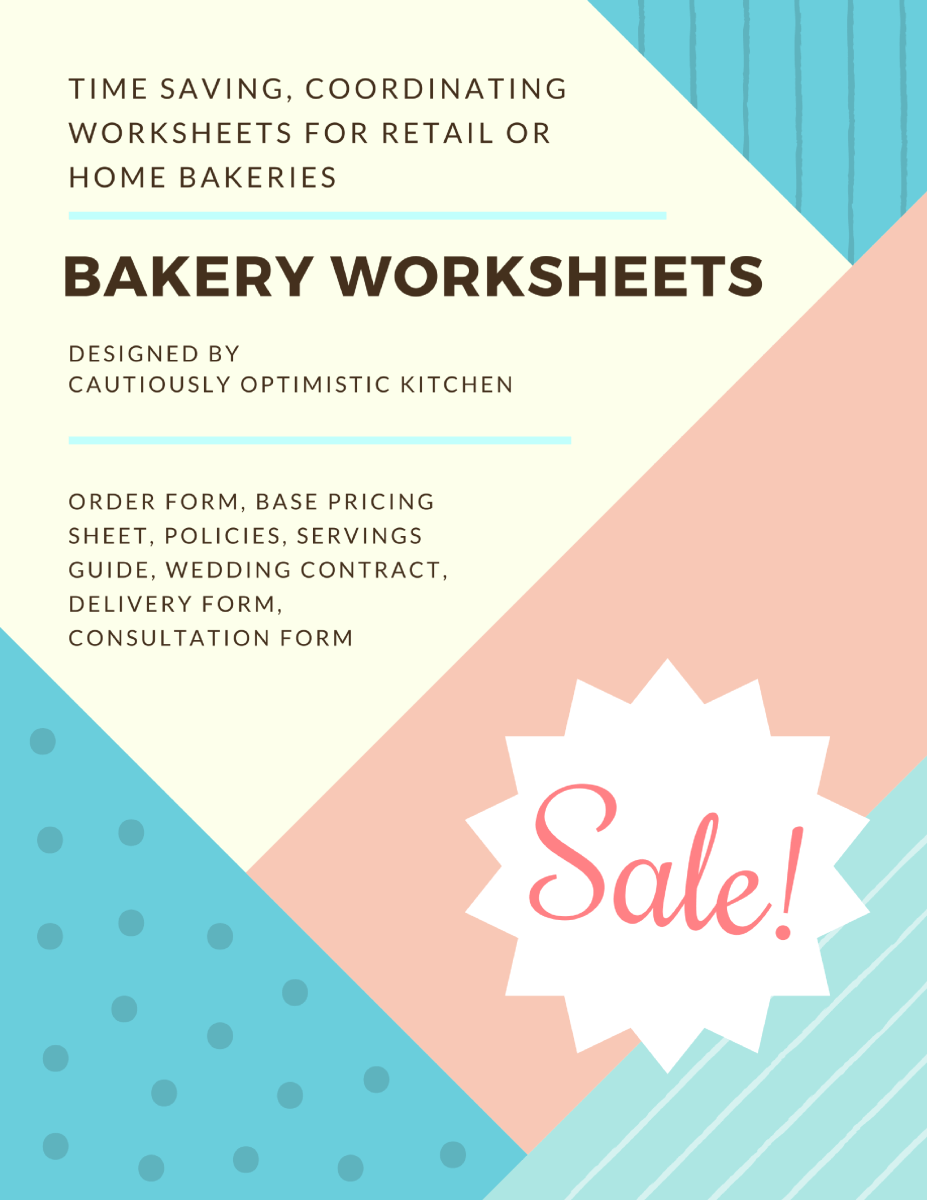 Free Bakery Worksheets Packet   Bakeries Worksheets And Cake