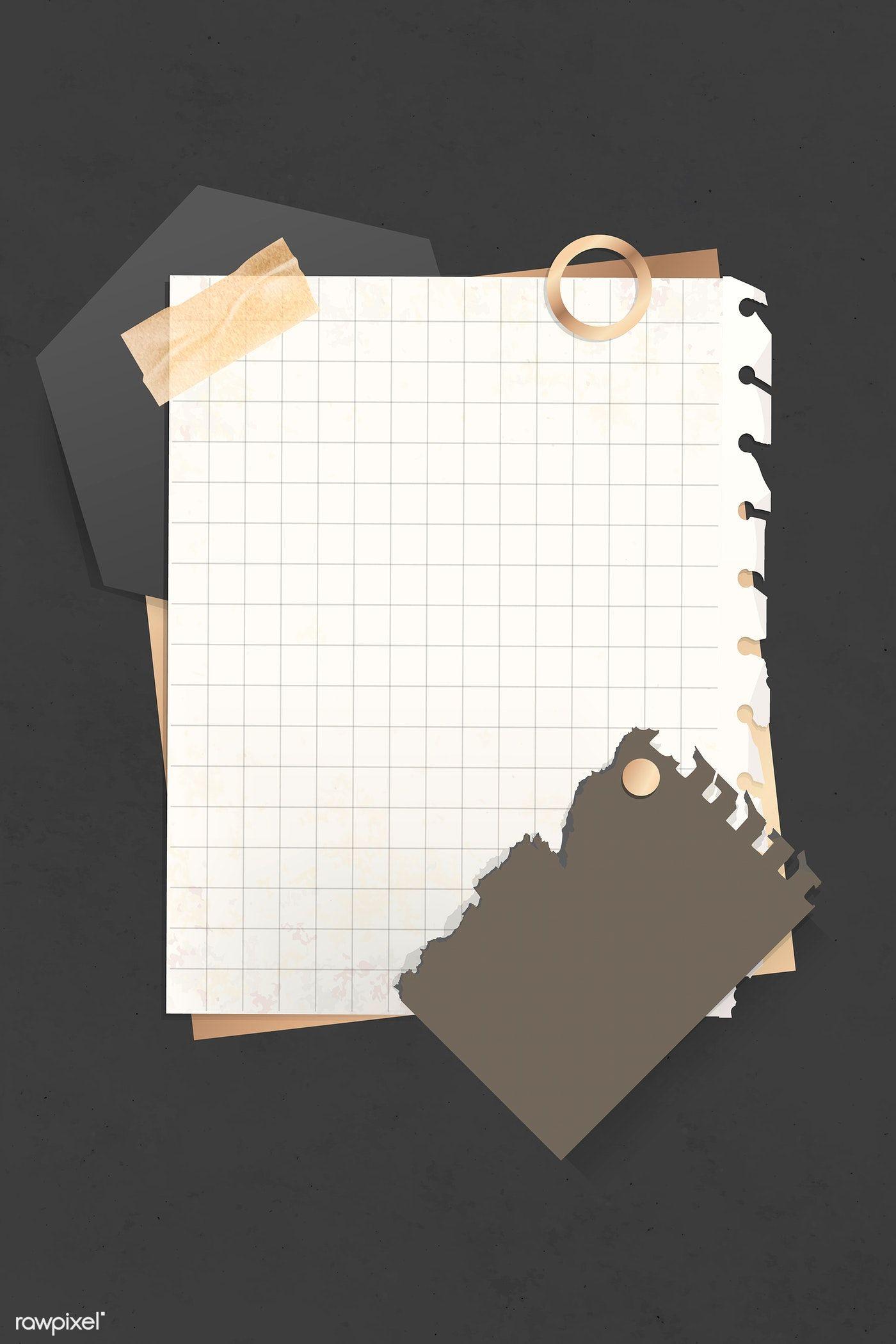 Download premium vector of Minimal grid note paper vector 893470