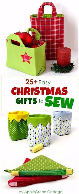 Diy Christmas Presents To Sew More Than 25 Beautiful Beginner Sewing Projects And Patterns Diy Christmas Presents Beginner Sewing Projects Easy Sewing Gifts