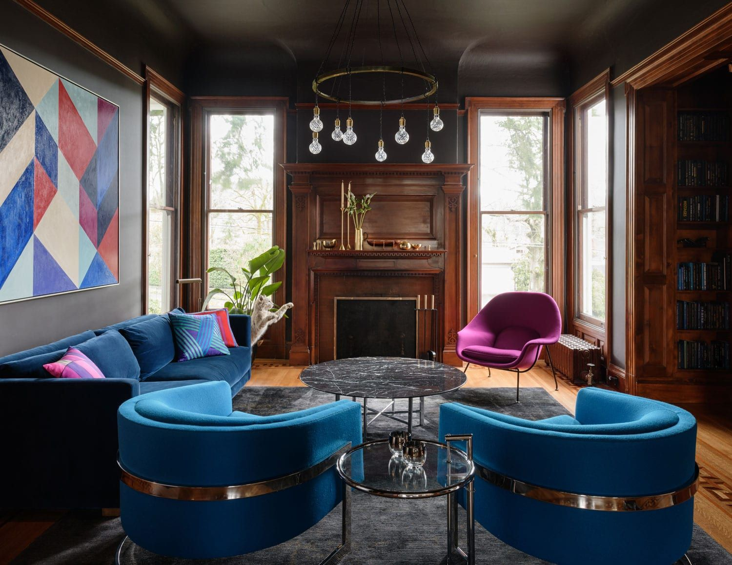 Historic Victorian House In Portland Renovated By Jessica Helgerson Yellowtrace Mid Century Modern Living Room Living Room Modern Trending Decor