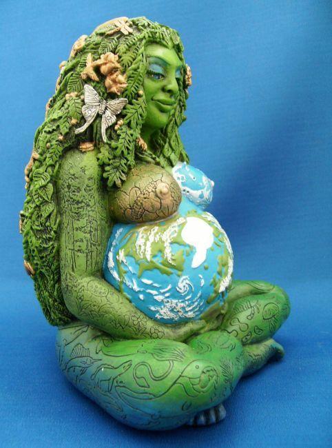Millenial Gaia Statue Goddess Inspiration Pinterest