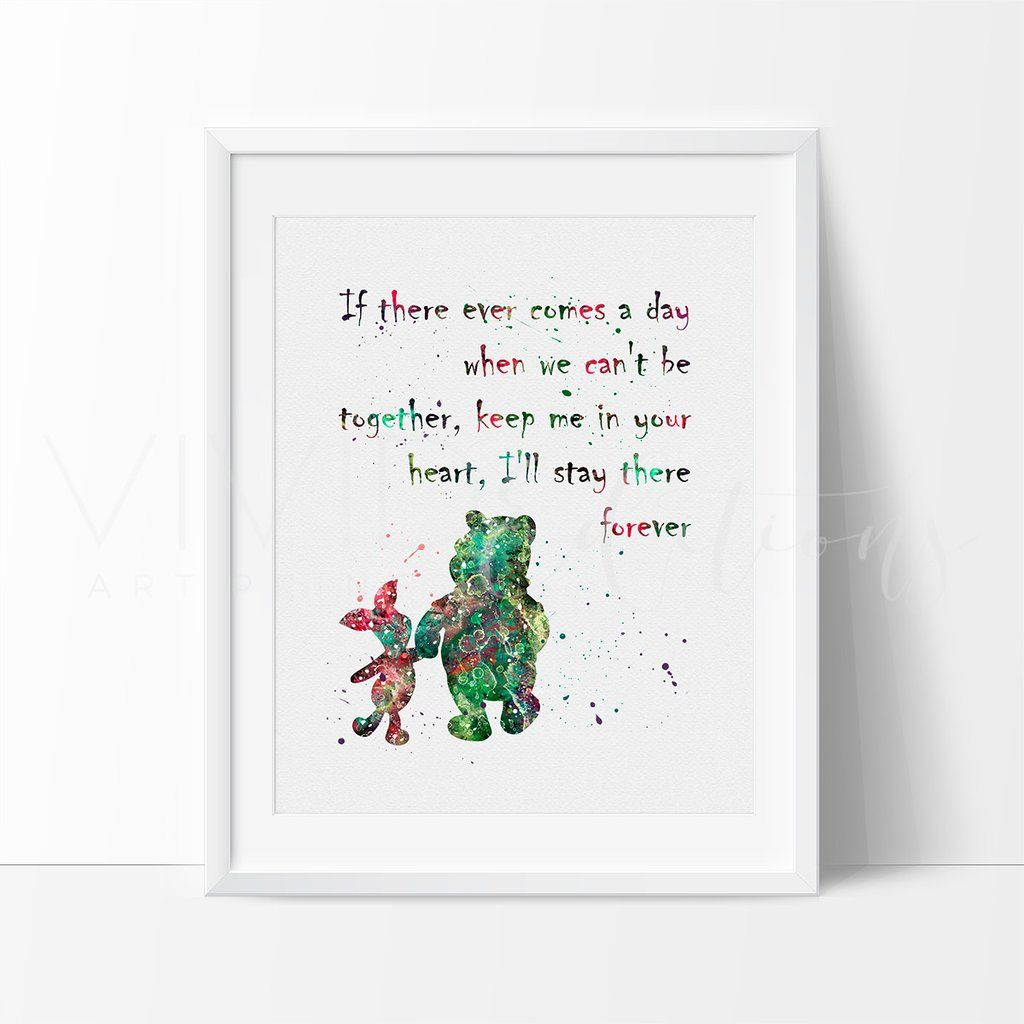 Winnie the pooh quote 2 watercolor art print amipublicfo Images