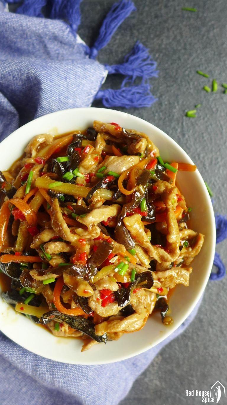 sichuan shredded pork with garlic sauce yu xiang rou si
