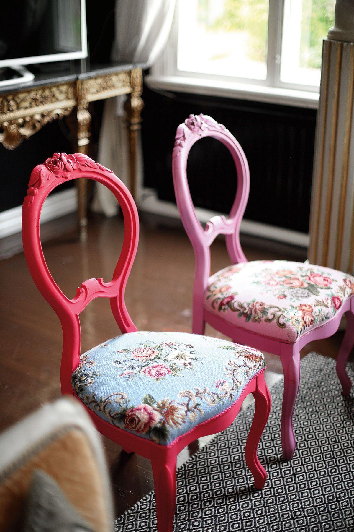 Railakkaat tuolit sopivat nuoreen kotiin tai designhenkiseen toimistoon.