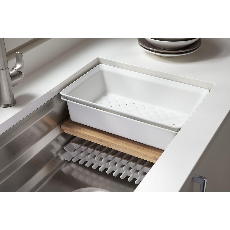 Prolific 33 L X 17 3 4 W X 11 Undermount Single Bowl Kitchen Sink With Accessories Undermount Kitchen Sinks Kitchen Sink Accessories Kitchen Sink Remodel