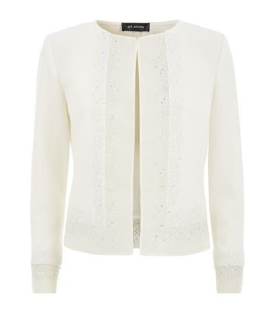 St John Pearl Sequin Organza Jacket available to buy at Harrods. Shop women's designer fashion online and earn Rewards points.
