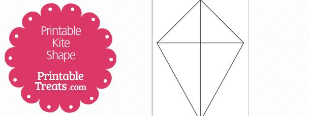 Free Printable Kite Shape Template Projects To Try Pinterest
