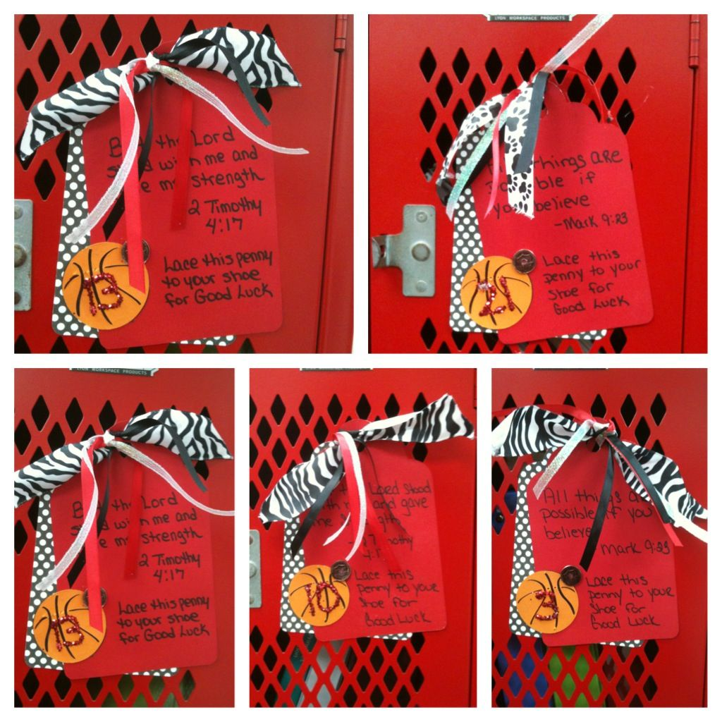 Basketball Locker Decorations