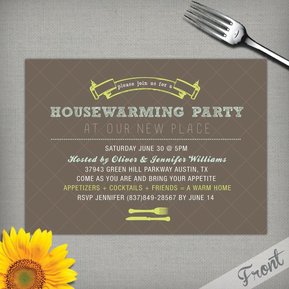 Home Sweet Home Housewarming Invite 20 printed 5 by 7 – Funny Housewarming Party Invitations