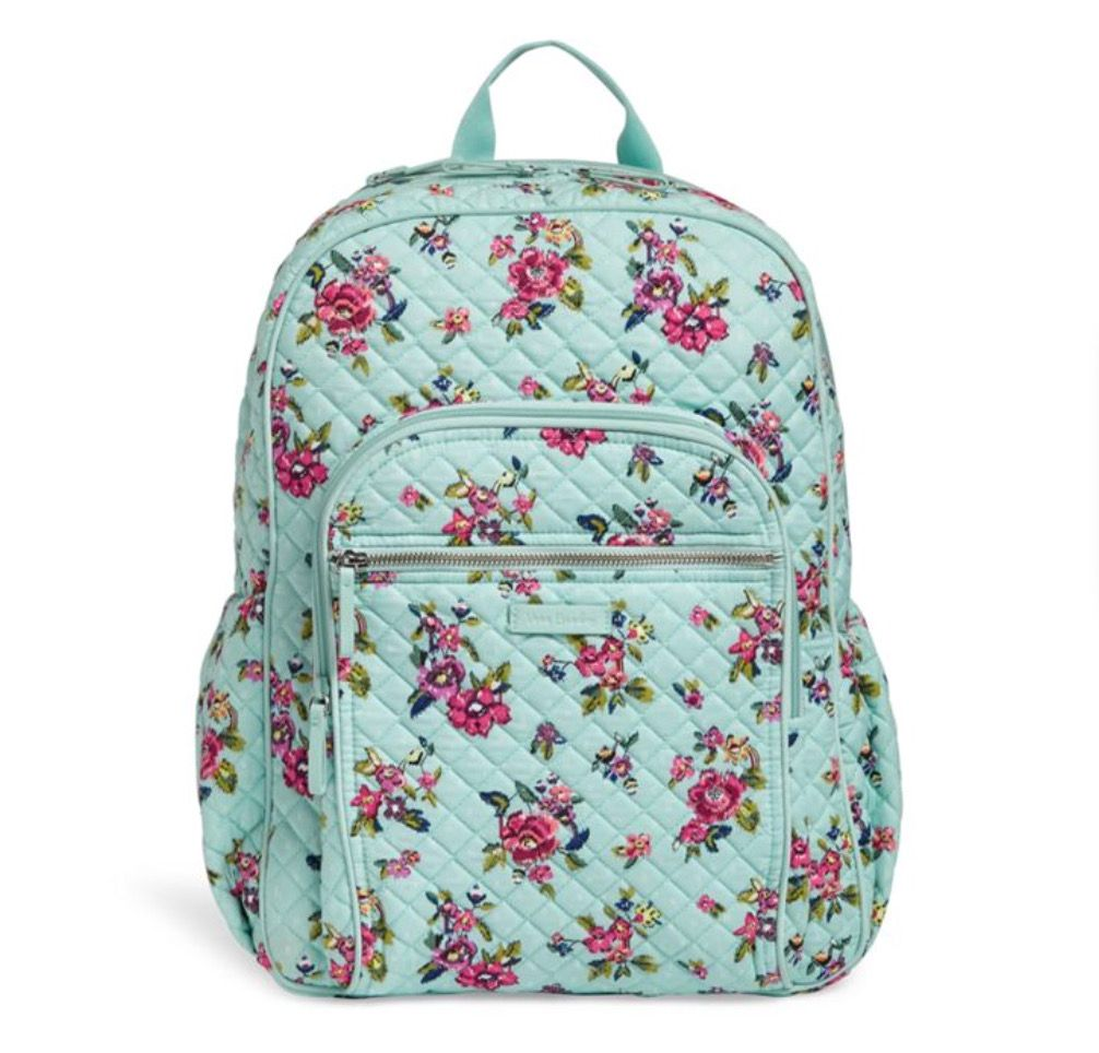 3441683d37 Vera Bradley Iconic Campus Backpack•Water Bouquet