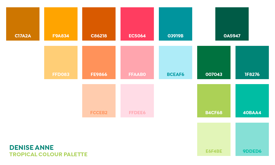 Free Color Palettes from Popular Designers | Tropical ...