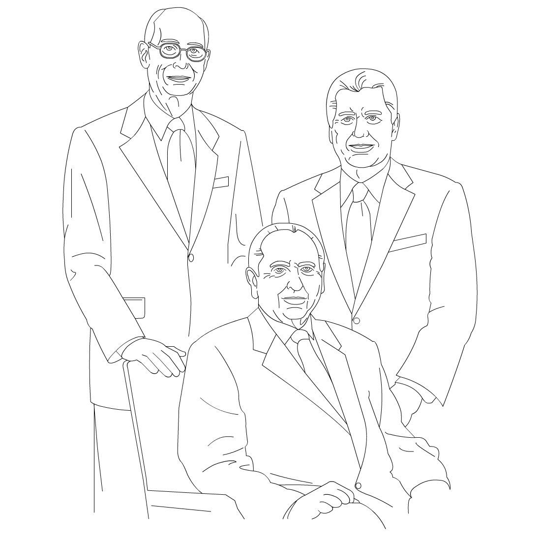 free lds clipart to color for primary children first presidency monson eyring uchtdorf [ 1100 x 1100 Pixel ]