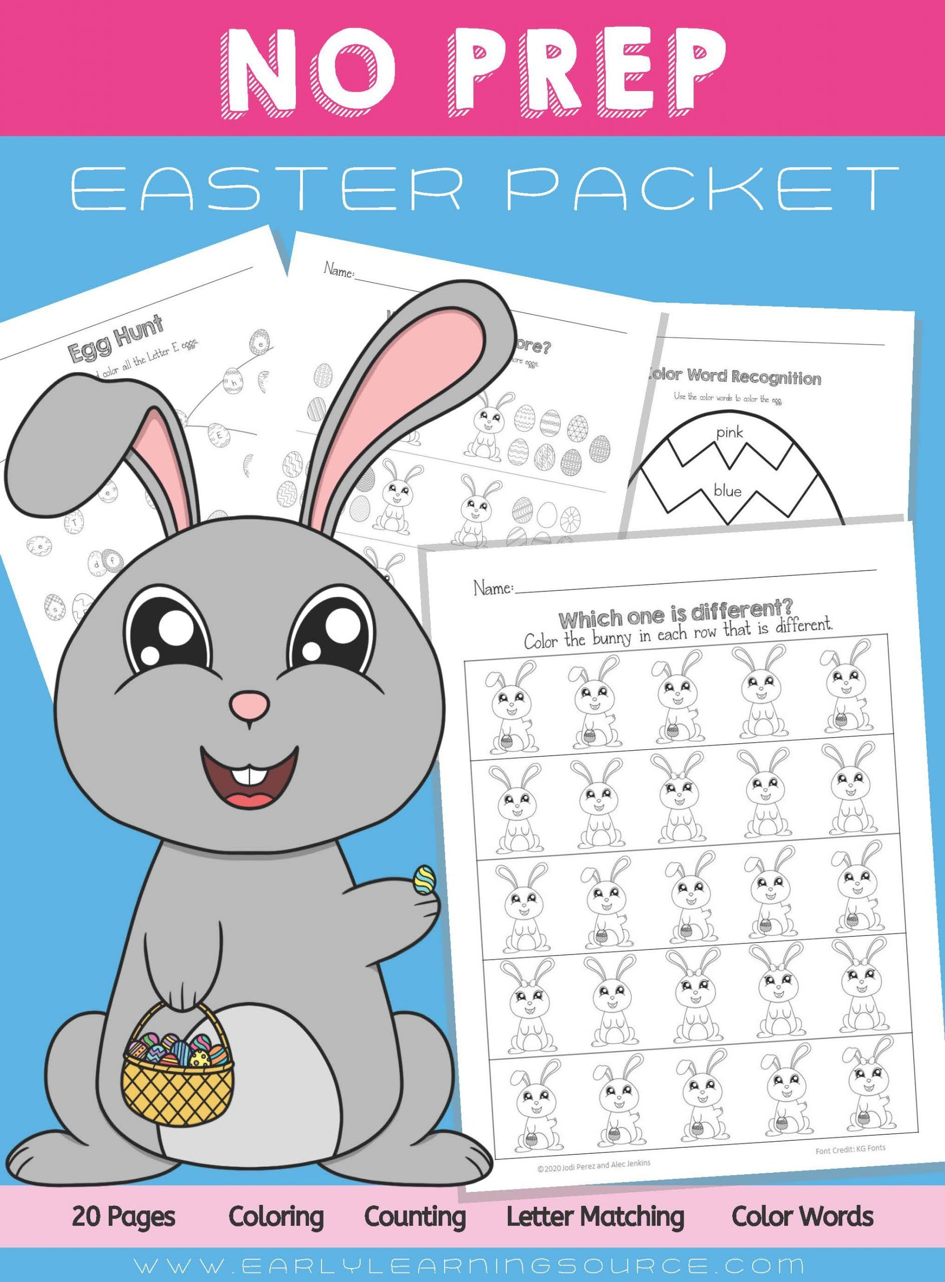 Easy No Prep Easter Packet In
