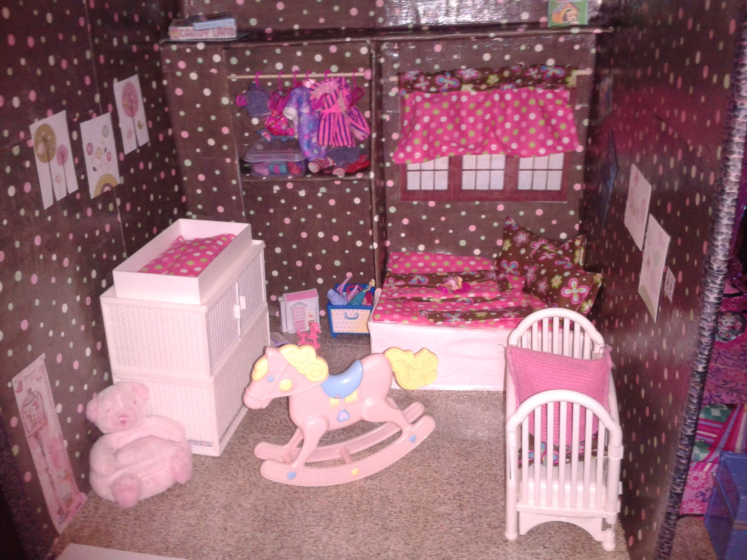 Barbie Bedroom In A Box: Chelsea, Kelly And Babies Room.
