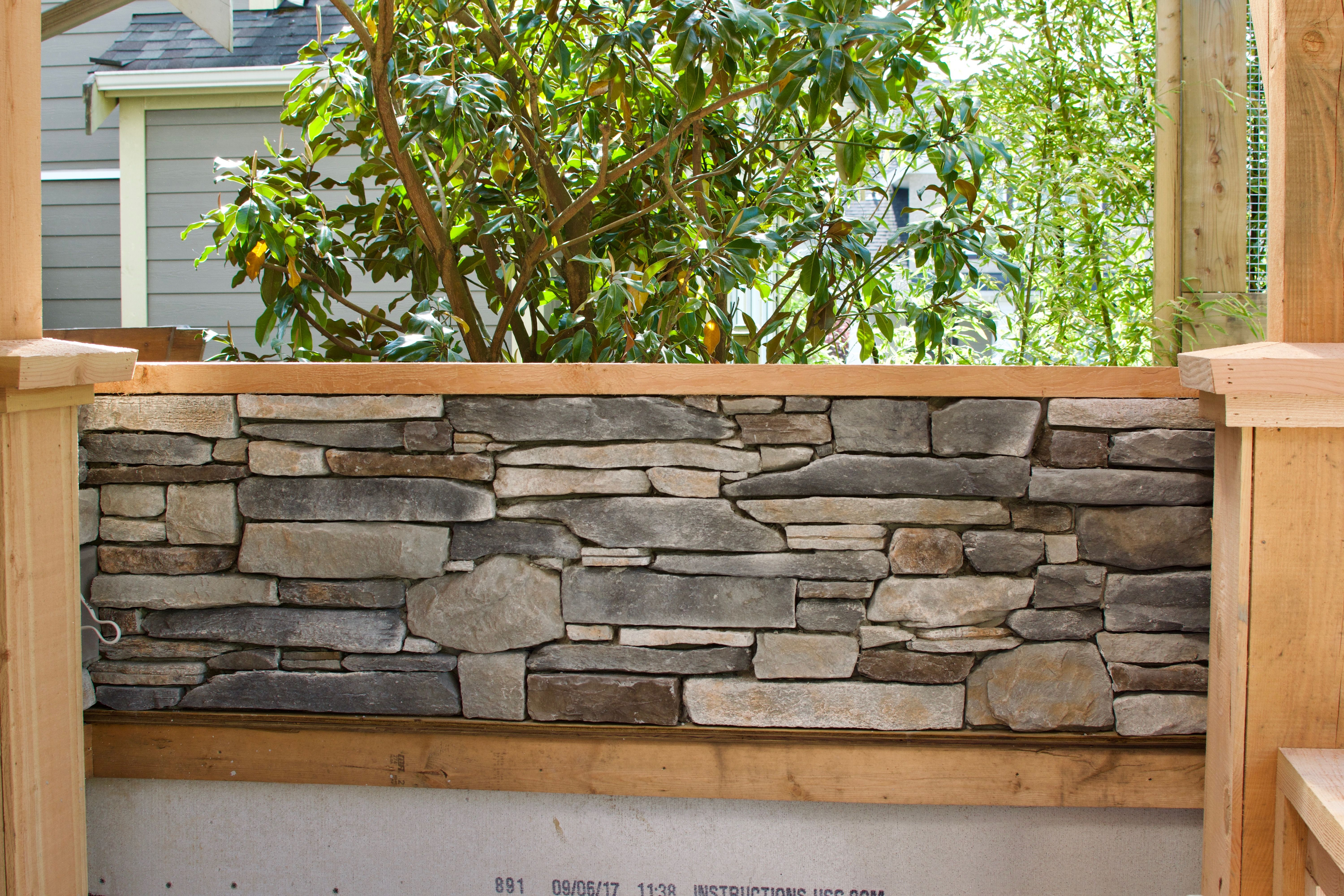 Outdoor Stone Fireplace And Patio Walls By Lennox Masonry Of Victoria B C Canada This Dry Stack Ledge Outdoor Stone Fireplaces Masonry Contractor Masonry