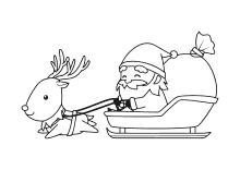 Weihnachtsmann Mit Schlitten Und Rentieren 4