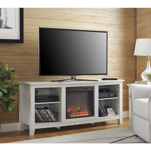 Walker Edison 58 Fireplace Tv Stand In White Products Pinterest