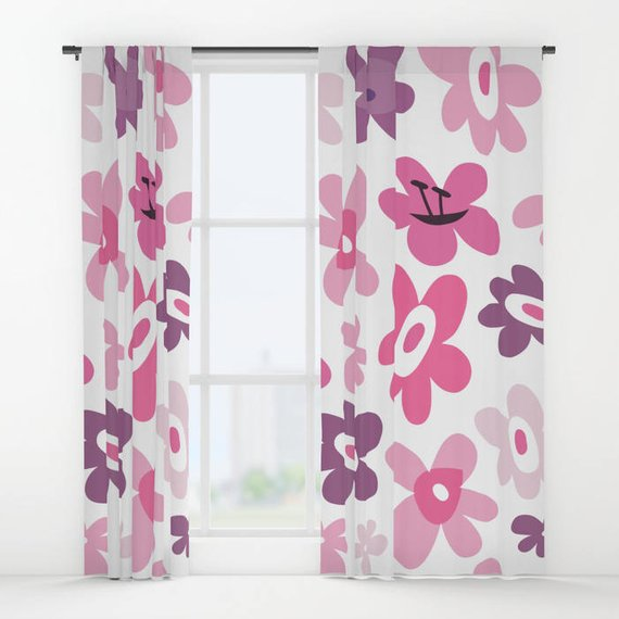 Pink flowers curtains pink window curtains flower window curtains pink flowers curtains pink window curtains flower window curtains pink and purple flowers pink drapes daughters bedroom curtain panel mightylinksfo