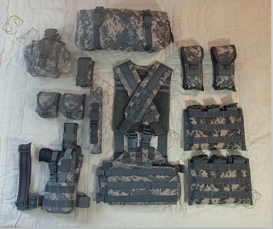 US Military MOLLE H-Gear Harness Tactical Vest * 13 Piece Set * ALL