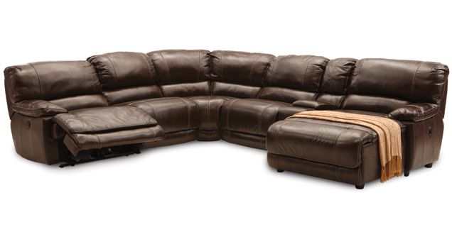 Leather Reclining Sofa Sectional Recliner