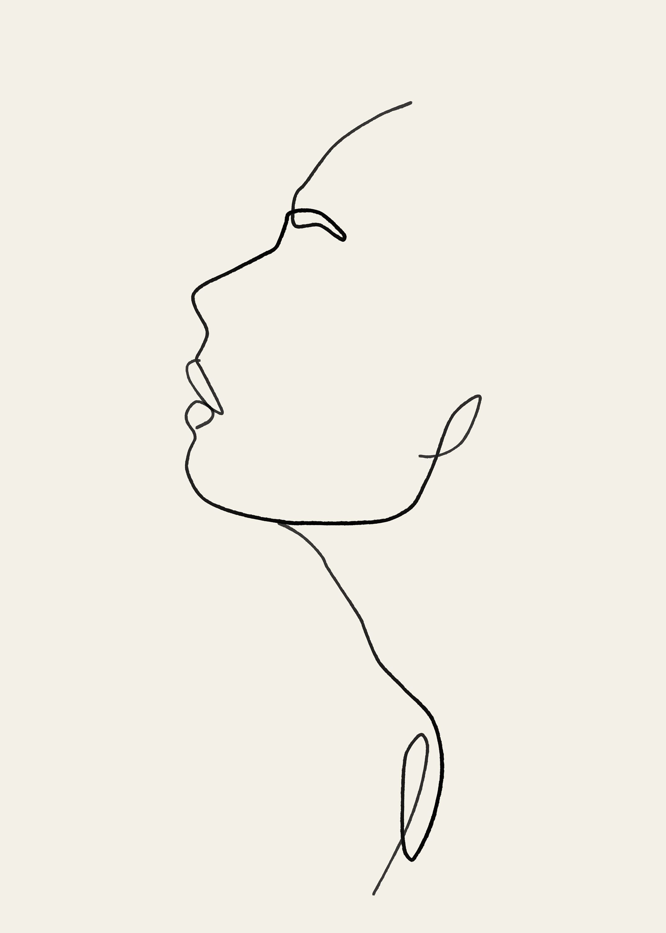 Abstract Female Figure Woman Art Sketch Art Continuous Line