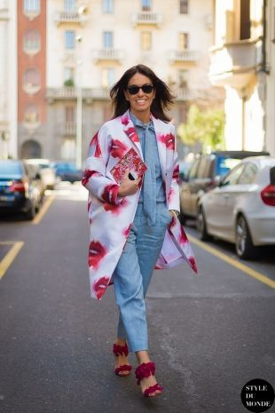 Viviana Volpicella Street Style Street Fashion by STYLEDUMONDE Street Style Fashion Blog