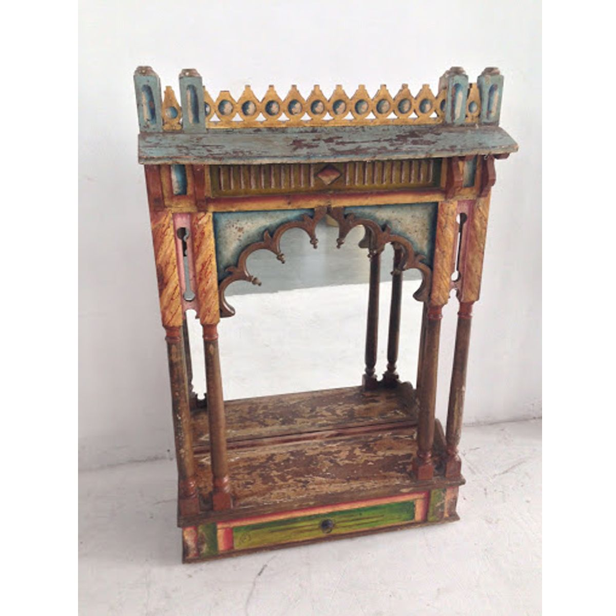 Check Out Our Antiques At Mix Furniture! Antique Indian Altar Display