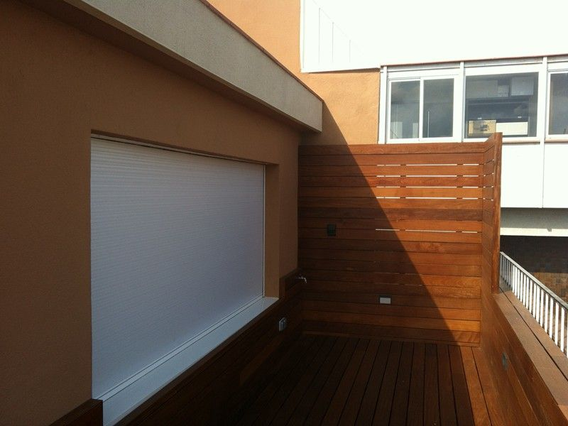 instalacin tarima vallas y jardineras de madera en terraza de vivienda particular park house with vallas terraza