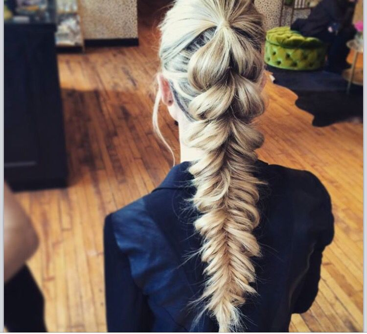 Pull Through Braid Into Fishtail Ponytail Amazing By Blohaute