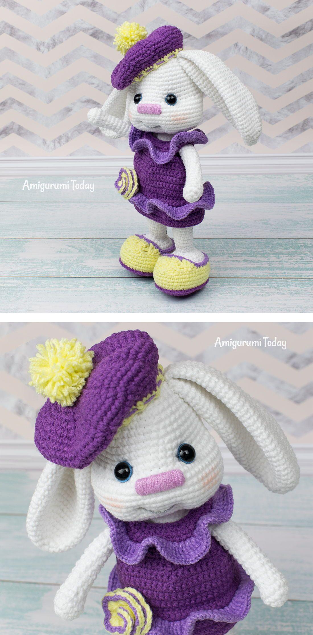 Pretty Bunny with floppy ears - Crochet Pattern | Tiere häkeln ... | 2230x1100