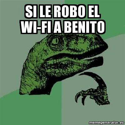 Meme Filosoraptor - si le robo el wi-fi a benito - 22789878