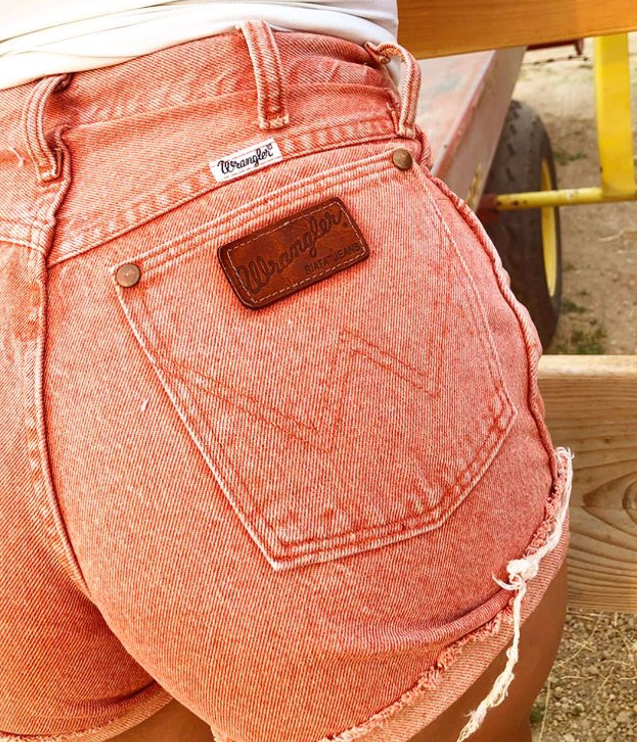 Vintage Western Fashion & Denim #summerwardrobe Rare Pink Wrangler Cut Offs