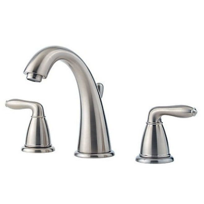 Pfister Serrano Two Handle Widespread Lavatory Faucet Brushed Nickel ...