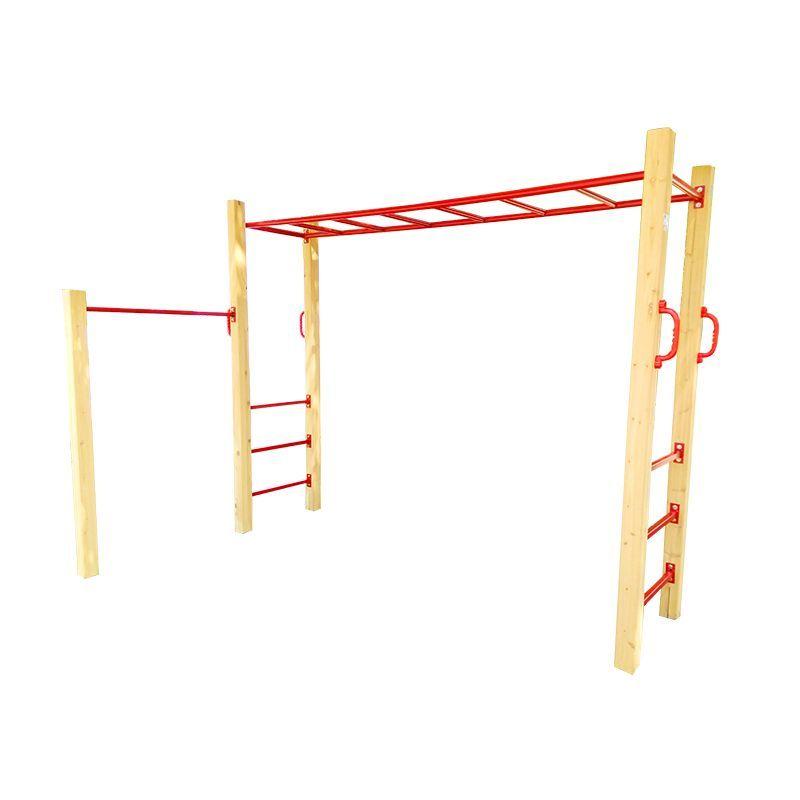 Kids playground monkey bars with gymnastics bar backyard